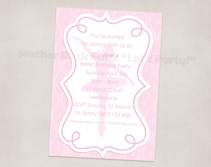 Dance Party Invitations For Girls