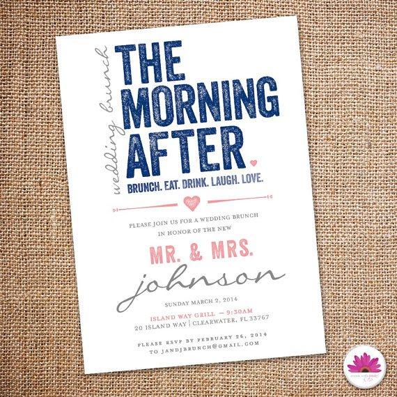 Day After Wedding Brunch Invitation Wording