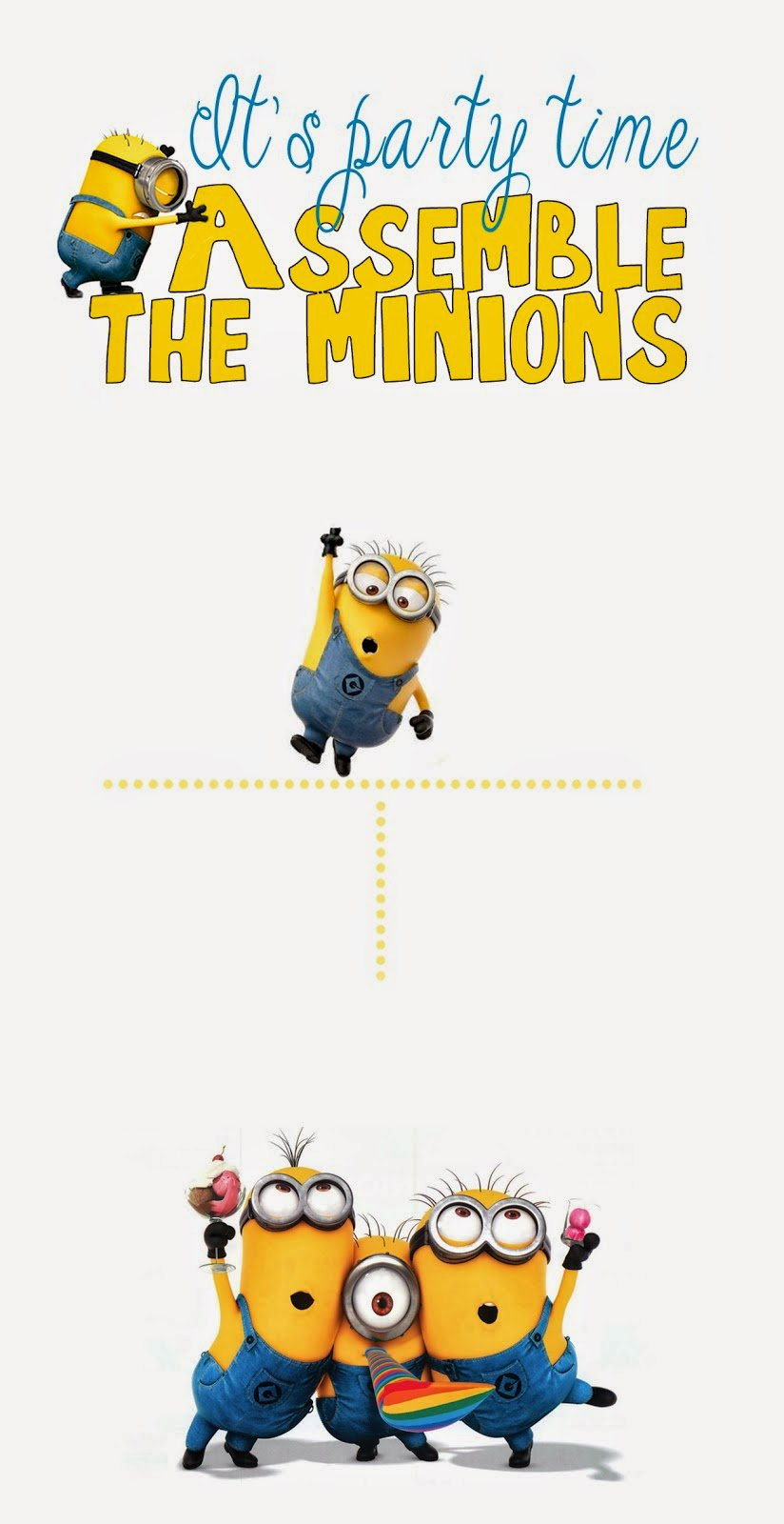 Despicable Me Party Invitations Free