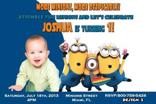 Despicable Me Personalized Invitations