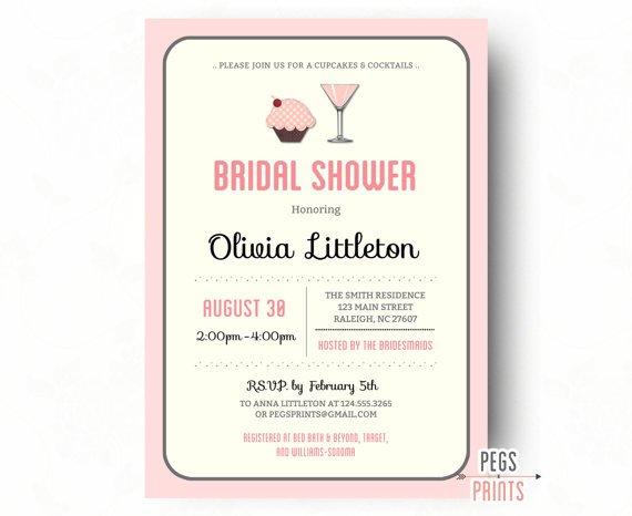 Dessert Bridal Shower Invitation Wording