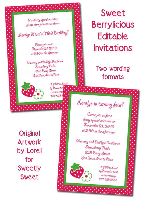Party Invitation Wording – Dessert Party Invitations