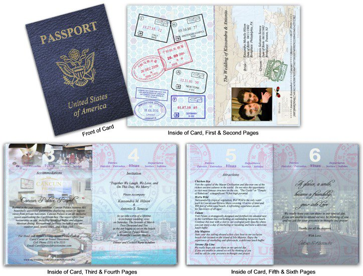 Destination Wedding Invitations Passport