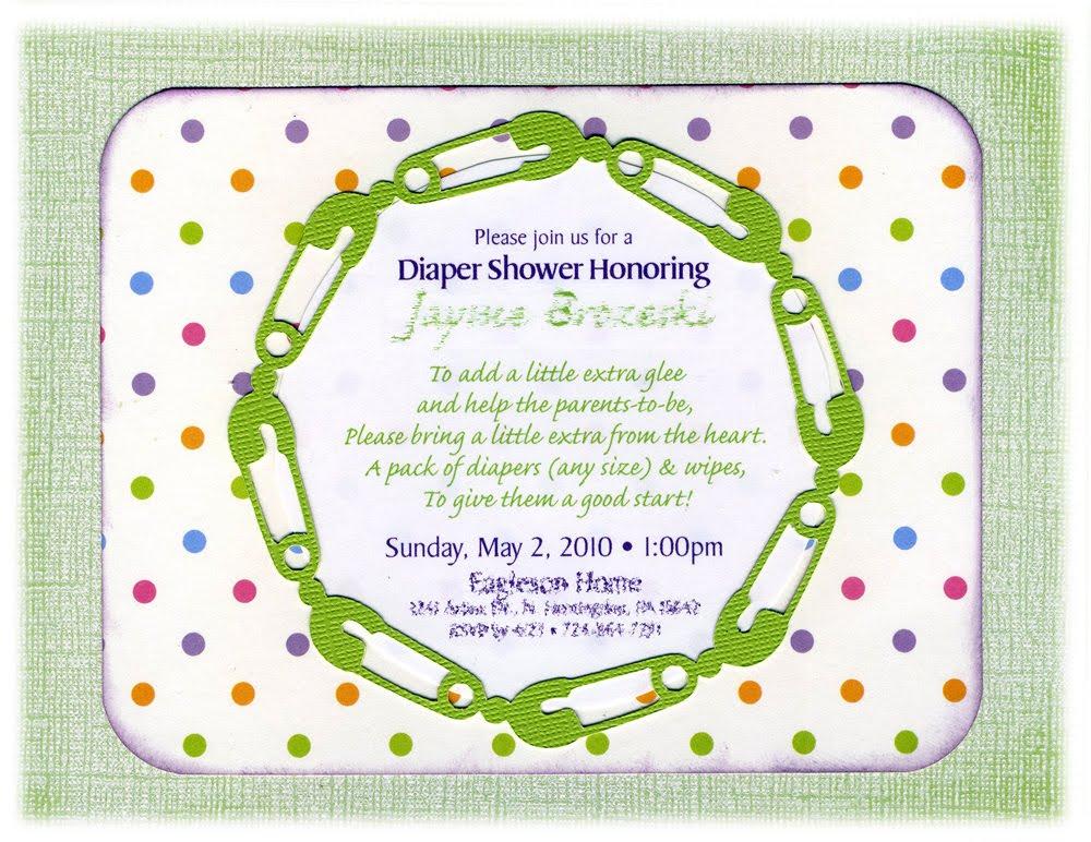 Diaper Baby Shower Invitations Wording