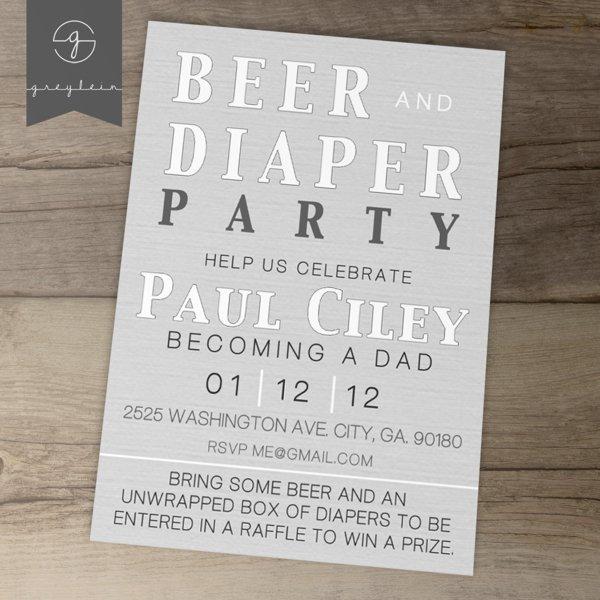 Diaper Party Invites Printable