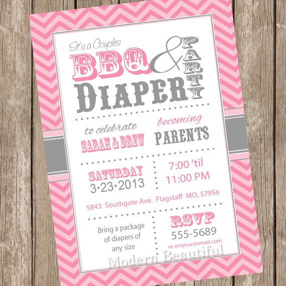 Diaper Shower Invitations Twins