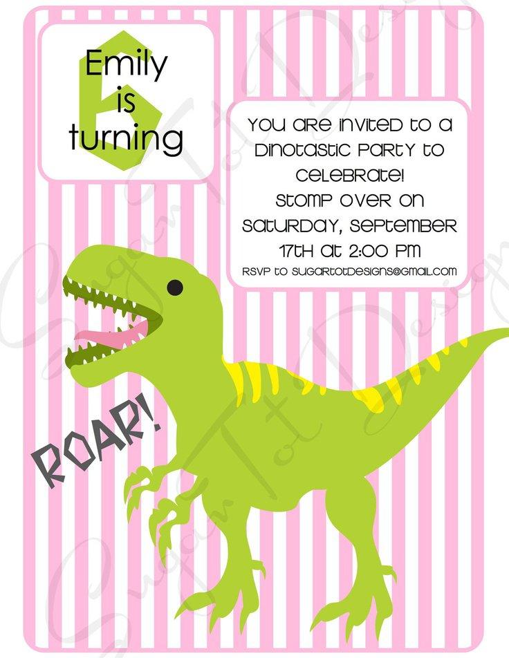 Dinosaur 3rd Birthday Invitation Wording