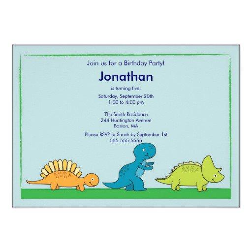 Dinosaur Invitation Background