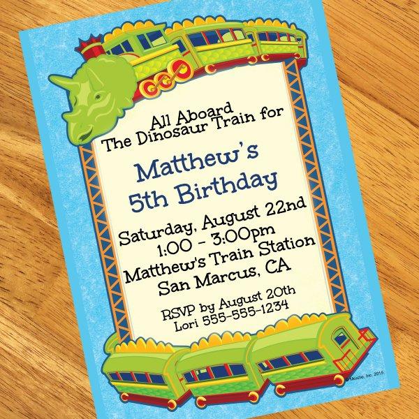 Dinosaur Train Invitations Birthday