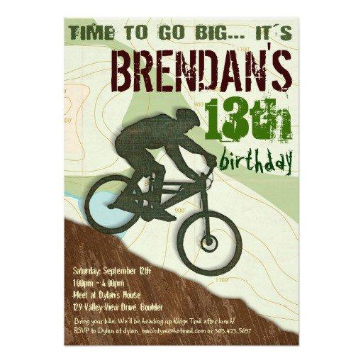 Dirt Bike Birthday Party Invitations