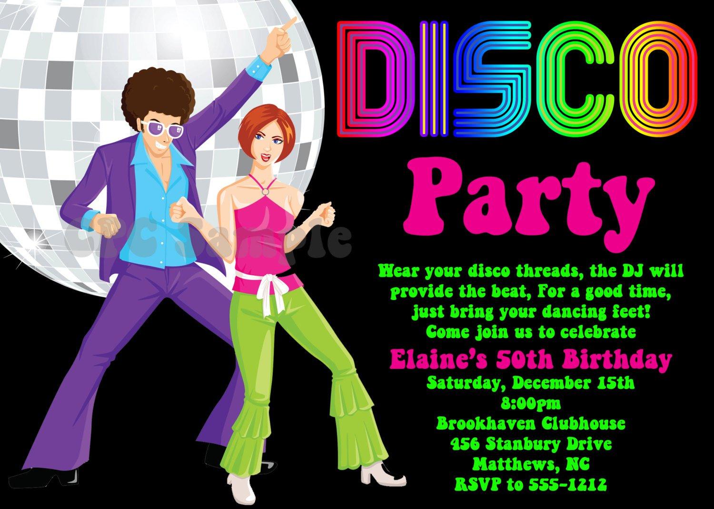 Disco Invitation Templates Free