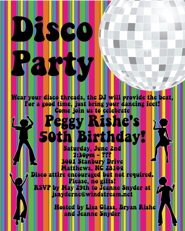 Disco Party Invitation Templates Free