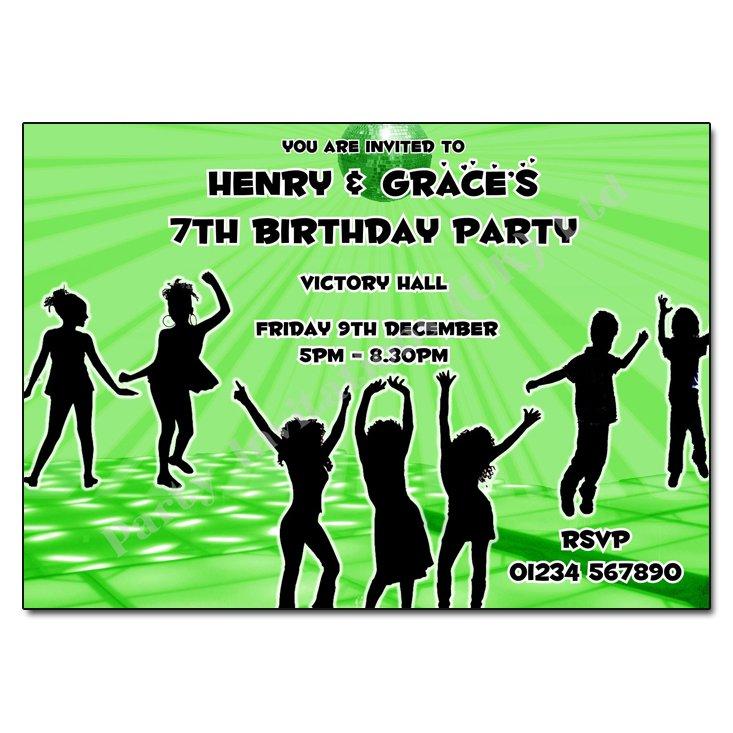 Disco Party Invitation Wording
