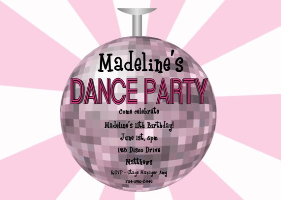 Disco Party Invitations Template Free