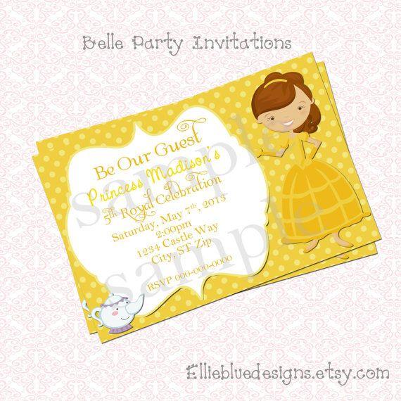 Disney Belle Wedding Invitations