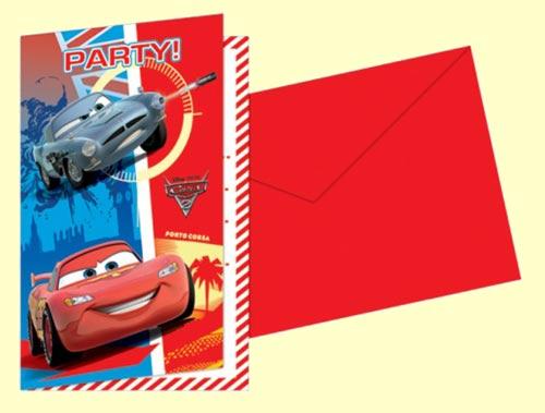 Disney Cars Blank Invitations