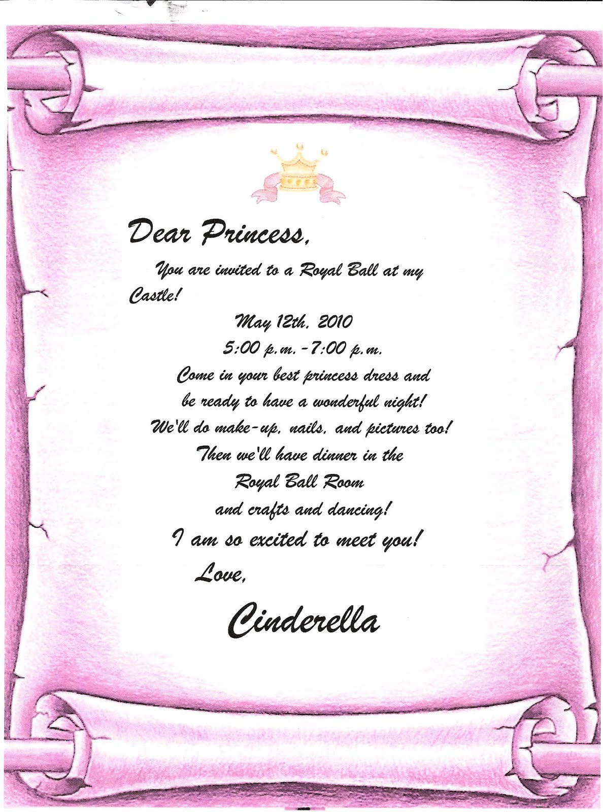 cinderella invitation to the ball template - cinderella castle invitations