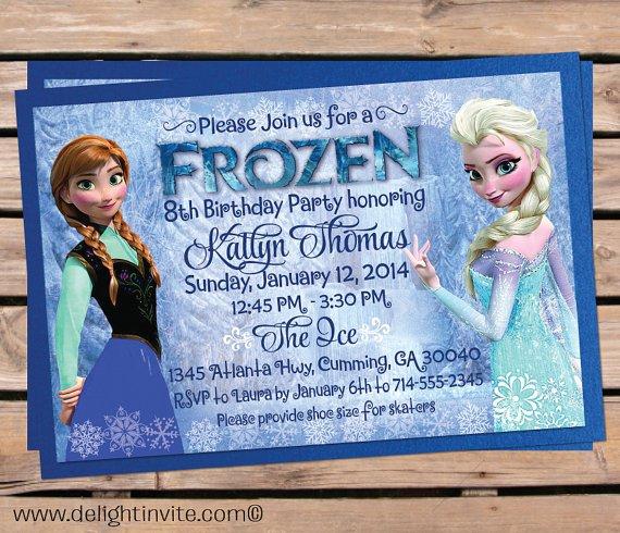 Disney Frozen Birthday Invitation Wording