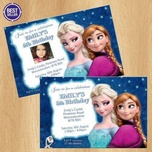 Disney Frozen Birthday Party Invitations Uk