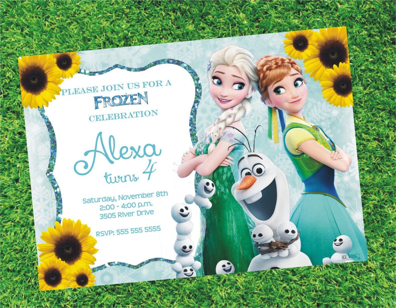 Disney Frozen Fever Blank Invitations