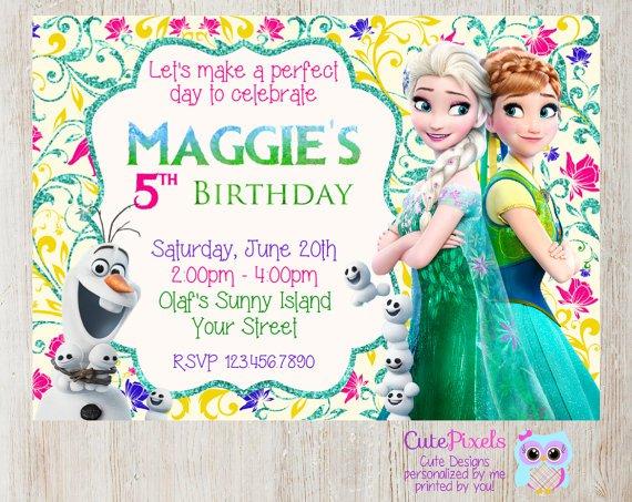 Disney Frozen Fever Invitations
