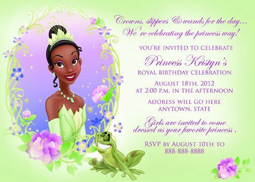 Disney Princess And The Frog Baby Shower Invitations