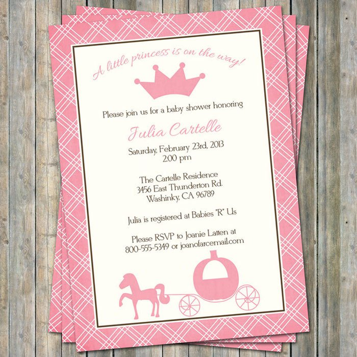 Disney Princess Baby Shower Invitations