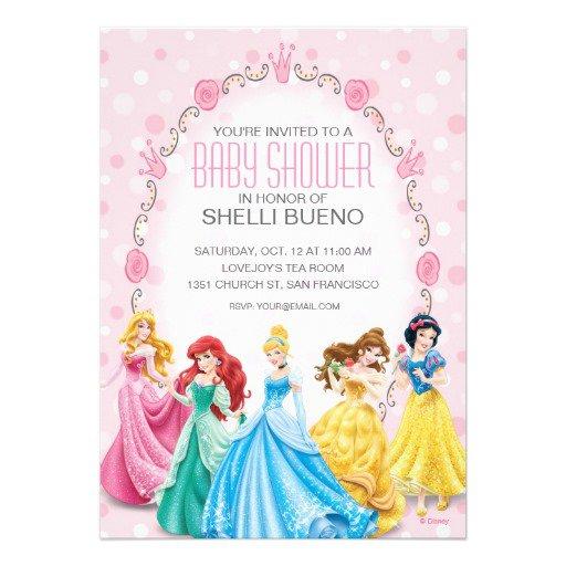 Disney Princess Baby Shower Invitations Templates