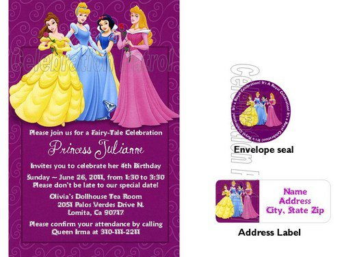 Disney Princess Birthday Invitation Wording