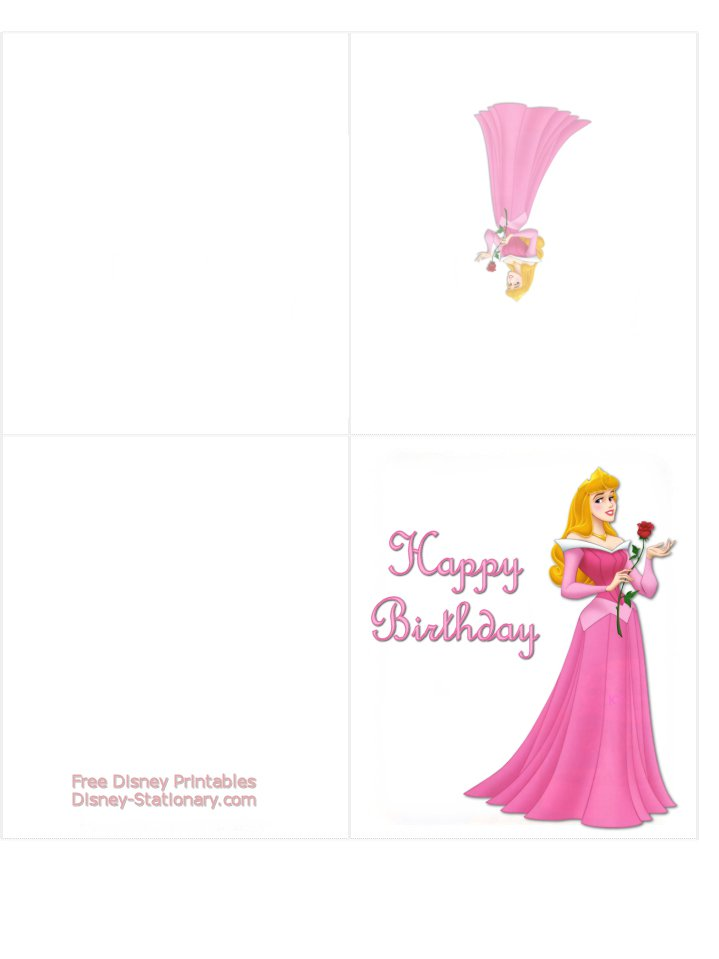 Princess Birthday Card Printable Free – Disney Princess Printable Birthday Cards
