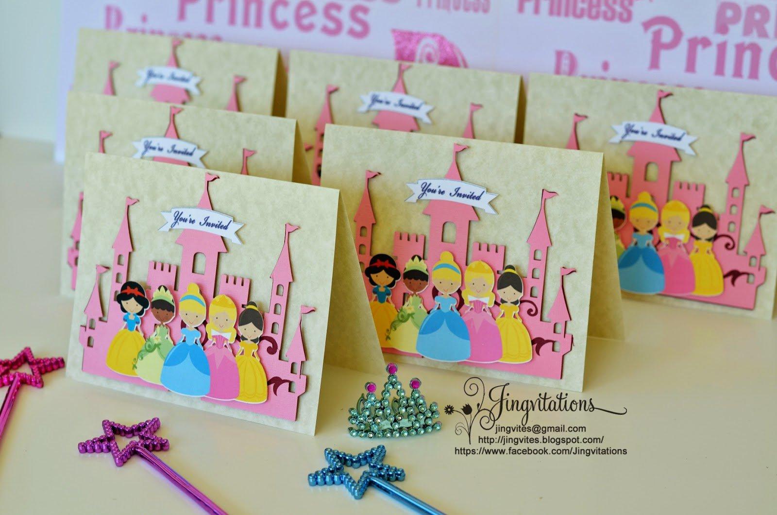 Disney Princess Castle Birthday Invitations