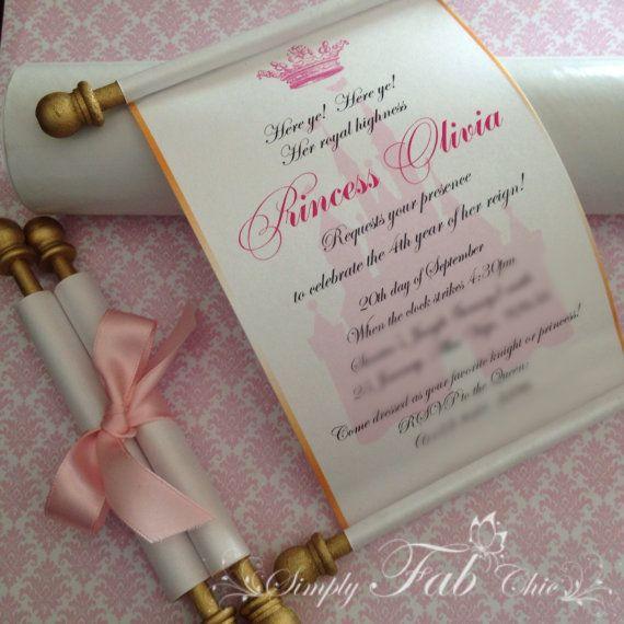 Disney Princess Christening Invitations