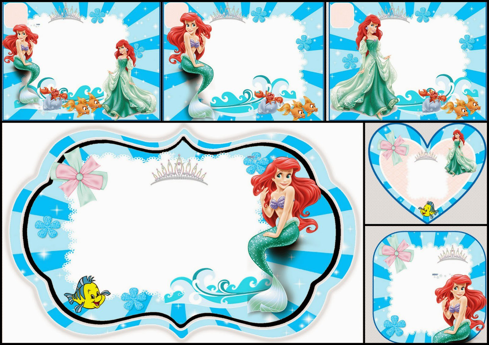Disney Princess Free Printable Party Invitations