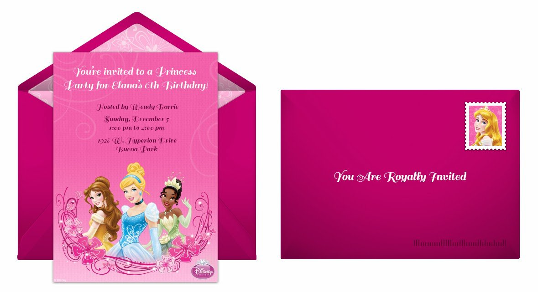 Disney Princess Invitation Maker