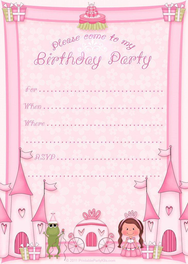 Disney Princess Party Invitations Printable Free