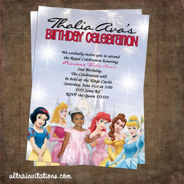 Disney Princess Party Invitations Templates