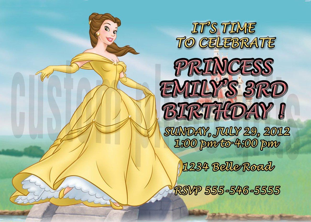 Disney Princess Personalized Birthday Invitation