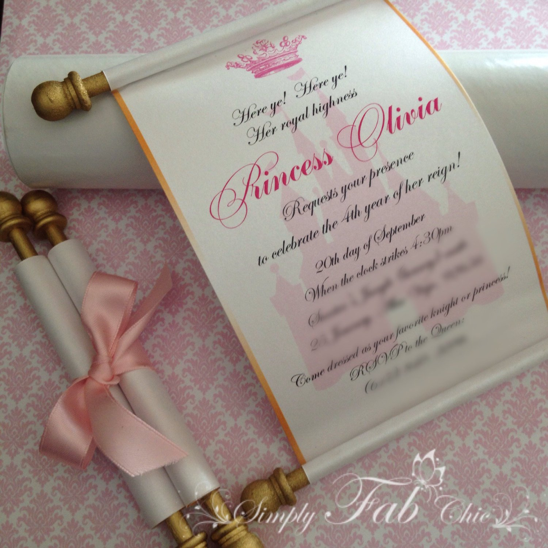 Disney Princess Wedding Shower Invitations