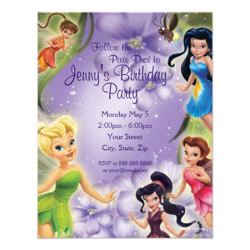 Disney Tinkerbell Party Invitations