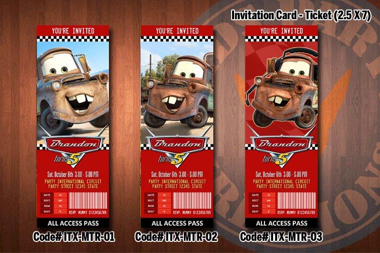 Disney Tow Mater Invitations