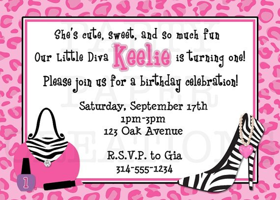 Diva Girl Birthday Invitations