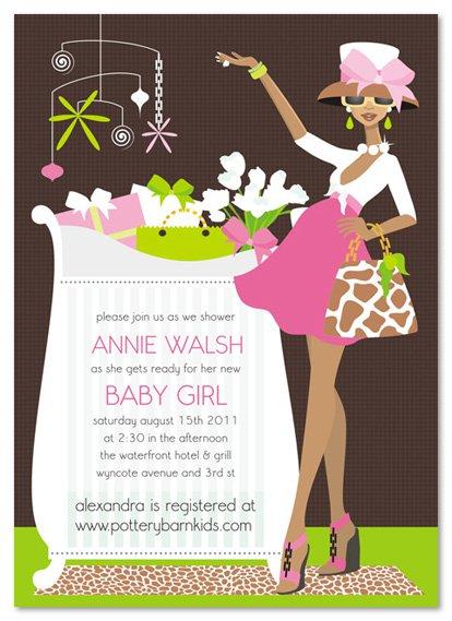 Diva Invitations Baby Shower