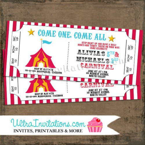 Diy Carnival Party Invitations