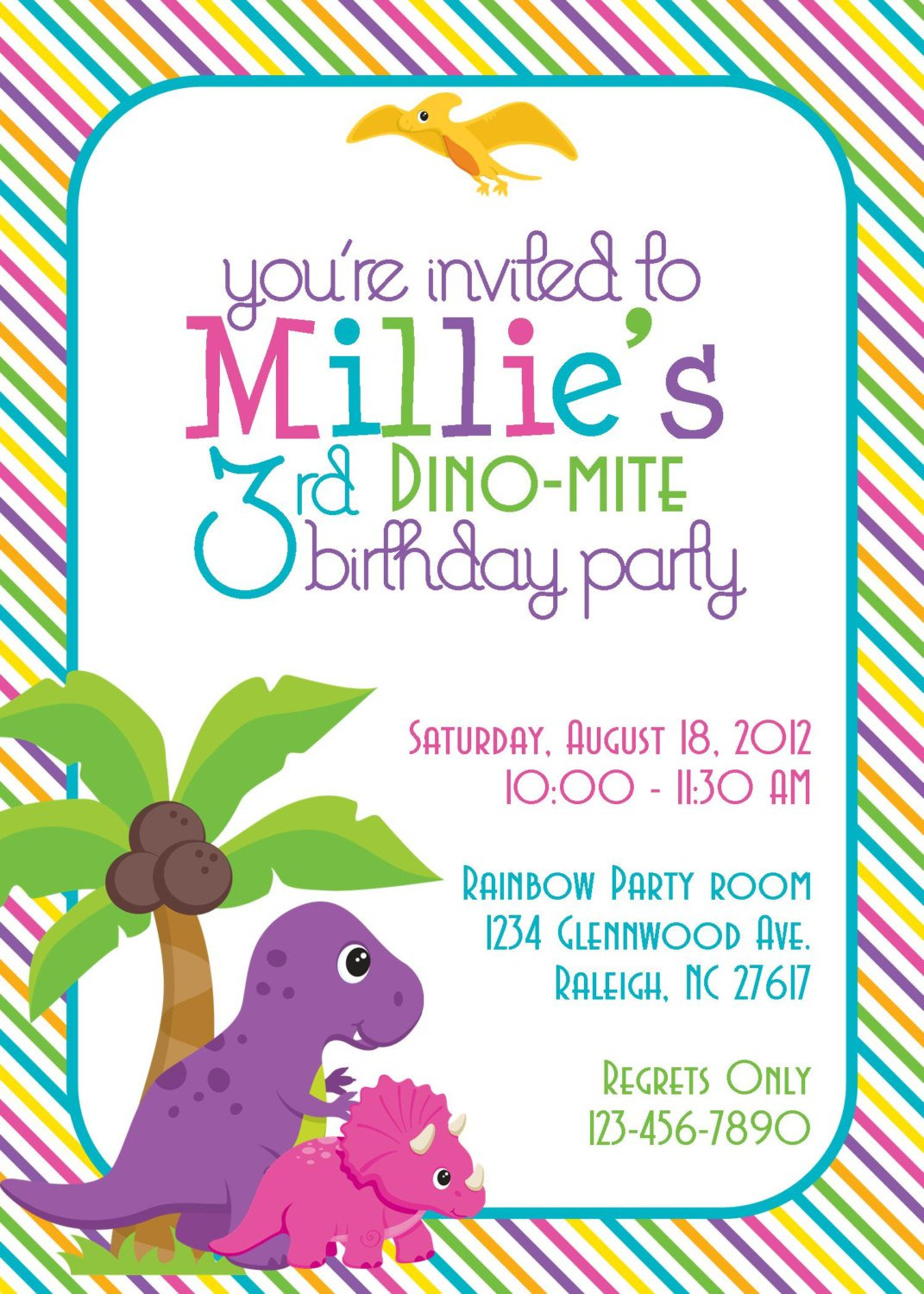 Diy Dinosaur Invitations