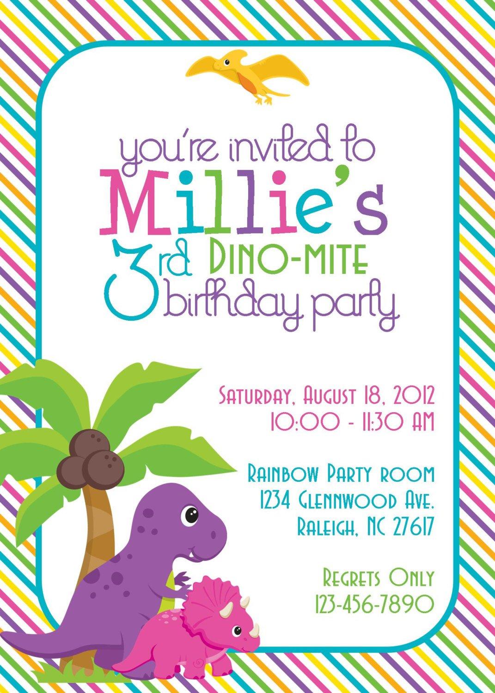 Diy Dinosaur Invitations