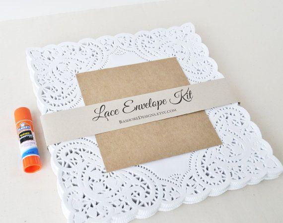 Diy Lace Wedding Invitations Kits