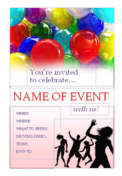 Do It Yourself Party Invitations Templates