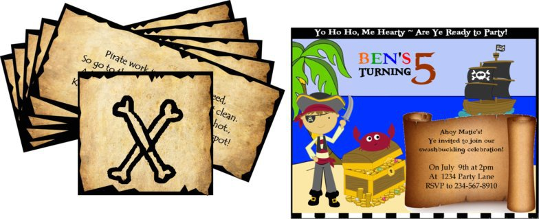 Do It Yourself Pirate Party Invitations