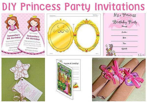 Do It Yourself Princess Birthday Invitations