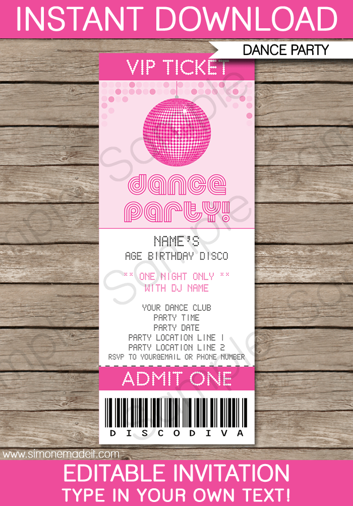 Do It Yourself Princess Party Invitations